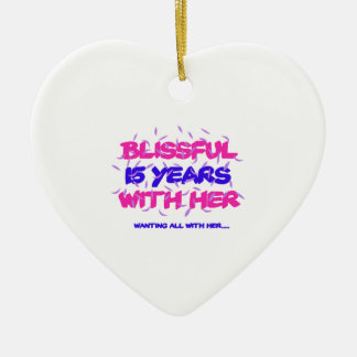 Trending 15TH marriage anniversary designs Ceramic Ornament