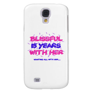 Trending 15TH marriage anniversary designs Galaxy S4 Case