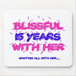Trending 15TH marriage anniversary designs Mouse Pad