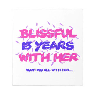 Trending 15TH marriage anniversary designs Notepad