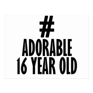 TRENDING 16 YEARS OLD BIRTHDAY DESIGNS POSTCARD