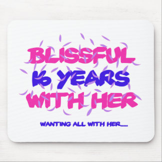 Trending 16th marriage anniversary designs mouse pad