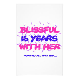 Trending 16th marriage anniversary designs stationery