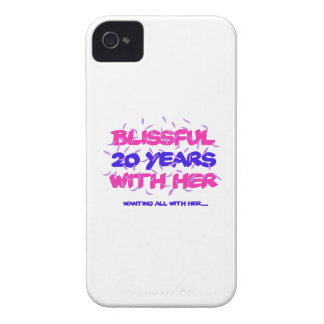 Trending 20TH marriage anniversary designs Case-Mate iPhone 4 Case