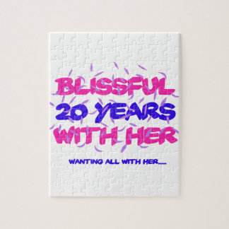 Trending 20th marriage anniversary designs jigsaw puzzle