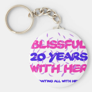 Trending 20TH marriage anniversary designs Key Ring