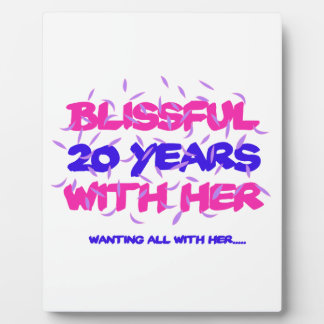 Trending 20TH marriage anniversary designs Plaque