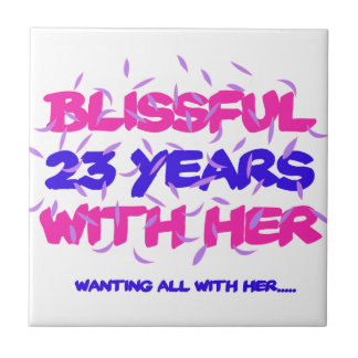 Trending 23rd marriage anniversary designs tile