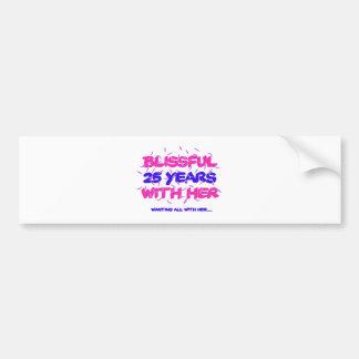 Trending 25th marriage anniversary designs bumper sticker