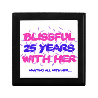 Trending 25th marriage anniversary designs gift box