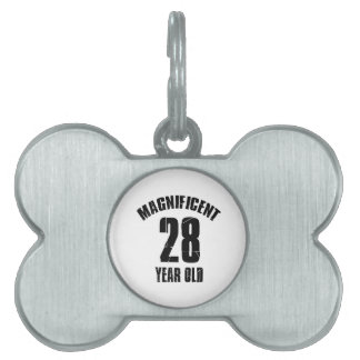 TRENDING 28 YEAR OLD BIRTHDAY DESIGNS PET NAME TAG