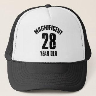 TRENDING 28 YEAR OLD BIRTHDAY DESIGNS TRUCKER HAT