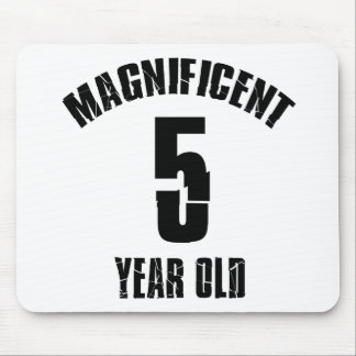 TRENDING 5 YEAR OLD BIRTHDAY DESIGNS MOUSE PAD