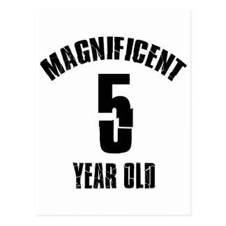 TRENDING 5 YEAR OLD BIRTHDAY DESIGNS POSTCARD