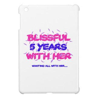 Trending 5th marriage anniversary designs iPad mini cover