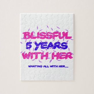 Trending 5th marriage anniversary designs jigsaw puzzle