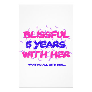 Trending 5th marriage anniversary designs stationery