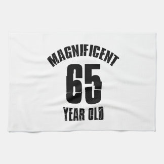 TRENDING 65 YEAR OLD BIRTHDAY DESIGNS TEA TOWEL