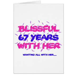 Trending 67TH marriage anniversary designs Card