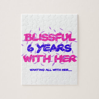 Trending 6th marriage anniversary designs jigsaw puzzle