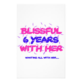 Trending 6th marriage anniversary designs stationery