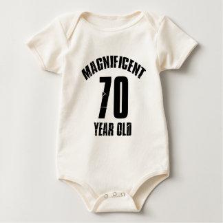TRENDING 70 YEAR OLD BIRTHDAY DESIGNS BABY BODYSUIT
