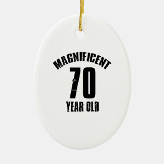 TRENDING 70 YEAR OLD BIRTHDAY DESIGNS CERAMIC ORNAMENT