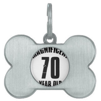 TRENDING 70 YEAR OLD BIRTHDAY DESIGNS PET ID TAG