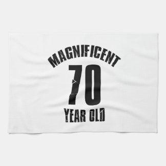 TRENDING 70 YEAR OLD BIRTHDAY DESIGNS TEA TOWEL
