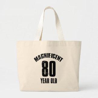 TRENDING 80 YEAR OLD BIRTHDAY DESIGNS LARGE TOTE BAG