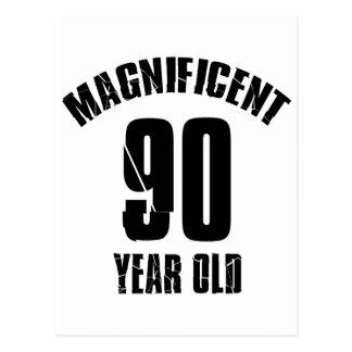 TRENDING 90 YEAR OLD BIRTHDAY DESIGNS POSTCARD