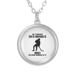 Trending and awesome Hockey designs Silver Plated Necklace