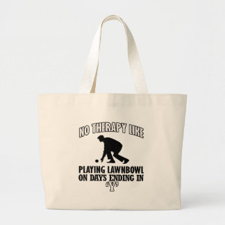 Trending and awesome Lawn-bowl designs Large Tote Bag