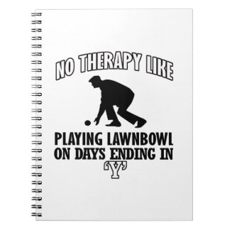 Trending and awesome lawn-bowl designs notebooks