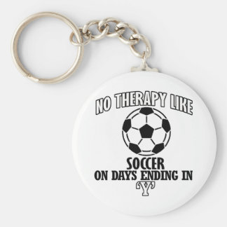 Trending and awesome Soccer designs Basic Round Button Key Ring