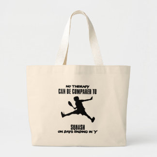 Trending and awesome Squash designs Large Tote Bag