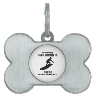 Trending and awesome Surfing designs Pet ID Tag