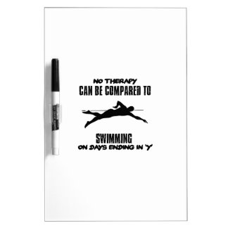 Trending and awesome Swimming designs Dry Erase Board