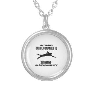 Trending and awesome Swimming designs Silver Plated Necklace