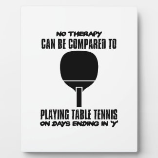 Trending and awesome Table Tennis designs Plaque