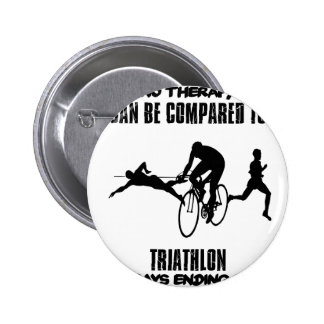 Trending and awesome TRIATHLON designs 6 Cm Round Badge
