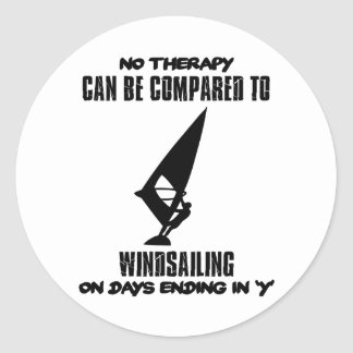 Trending and awesome Wind-sailing designs Classic Round Sticker