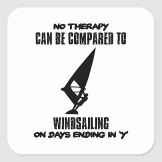 Trending and awesome Wind-sailing designs Square Sticker