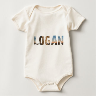 TRENDING and cool Logan name designs Baby Bodysuit