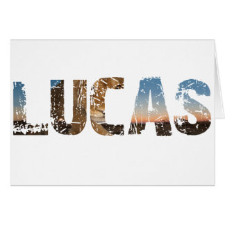 TRENDING and cool Lucas name designs Card