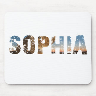 TRENDING and cool Sophia name designs Mouse Pad