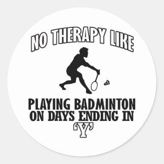 Trending Badminton designs Classic Round Sticker