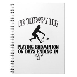 Trending Badminton designs Notebooks