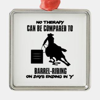Trending Barrel-riding designs Metal Ornament