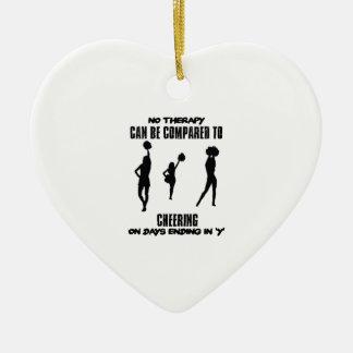 Trending Cheering designs Ceramic Ornament